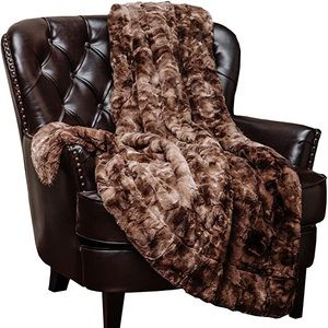 NORTHPOINT Cozy/Warm Brown Animal-Print Blanket